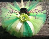 TINKERBELL TUTU SET- Includes matching headband- Custom Orders Welcome size infant to 5t