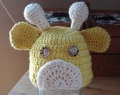Giraffe Hat: 6 to 12 Months Reserved for Michelle C.