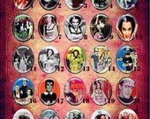 LOW DOME 40x30 or 25x18 Munsters Lily Marilyn Eddie Resin Cameo  MUNSTER2.1-25