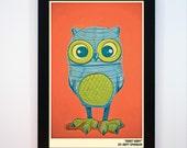 Framed - Robot Owl Print