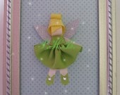 """Beautiful """"Tinkerbell 2"""" Princess Hair Clip-- Inspired by Disney-- Birthdays, Baby Showers, Party favor"""