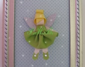 """Reserved Listing for Lohmangc Beautiful """"Tinkerbell 2"""" Princess Hair Clip-- Inspired by Disney-- Birthdays, Baby Showers, Party favor"""