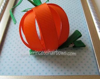 Ribbon Pumpkin Hair clip Halloween/Thanksgiving