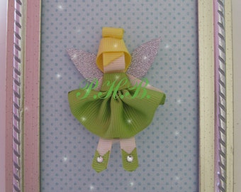"Beautiful ""Tinkerbell 2"" Princess Hair Clip-- Inspired by Disney-- Birthdays, Baby Showers, Party favor"