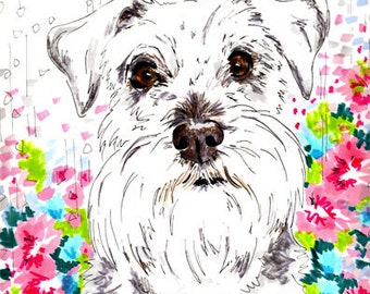 Custom Dog Portrait - A3 - For Tasia