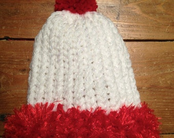 Christmas Premie Knit Baby Hat