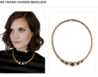 80's Trifari Choker Necklace