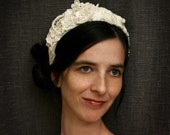 bridal lace headband -TODAY I WED- ivory