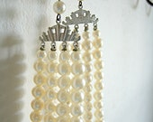 Four Strand Chunky Pearl White Baroque Necklace