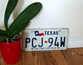 On Sale Vintage Metal Texas License Plate Red White Blue Flag