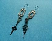 Steampunk Earrings Clockhands Repurposed Jewelry
