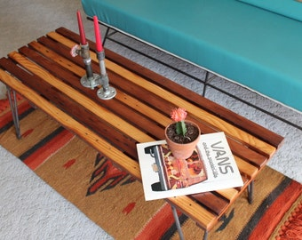 WILLIAMSON ~ Handmade Modern Reclaimed Wood Coffee Table with Hairpin Legs