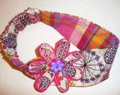 Little Girl Headband Embellished with Flower, Toddler, Flower Hair Accessory