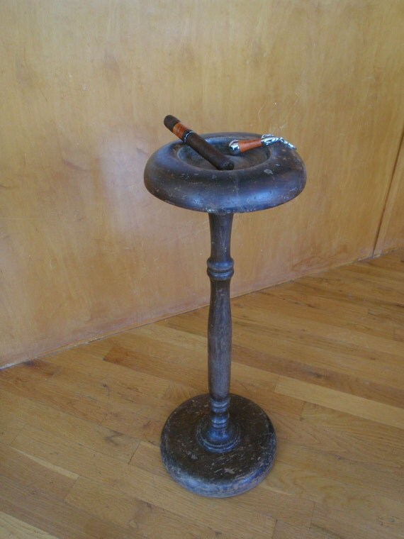 Vintage wooden smoke stand