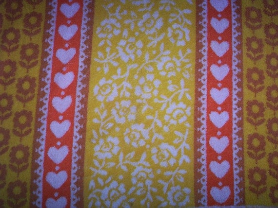 Hearts & Flowers Bath Towel By St Mary's