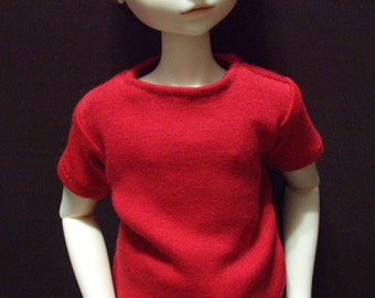 Simple Red MSD 45cm Doll Tee Shirt BJD