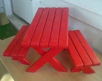 american girl doll picnic table