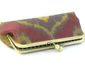 Purple Gold  Ikat Clutch Handbag - BagBoy
