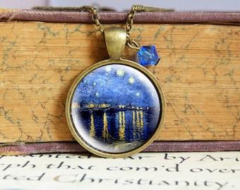 Starry Night - Vintage Necklace