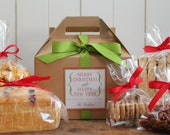 Set of 8 - Holiday Gift Boxes - Audrey Label // Personalized Gift Boxes // Baked Goods Gift Boxes //  Cookie Boxes // Cookie Party Boxes
