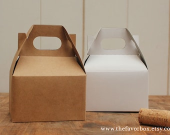 12 - Mini Gable Boxes - 4 X 2.5 X 2.5 // Gift Box // Wedding Favor Box // Kraft Box //