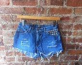 Silver Studded Shorts 3/4