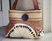 Handcrafted Purse / Blue Everyday Handbag : Preview