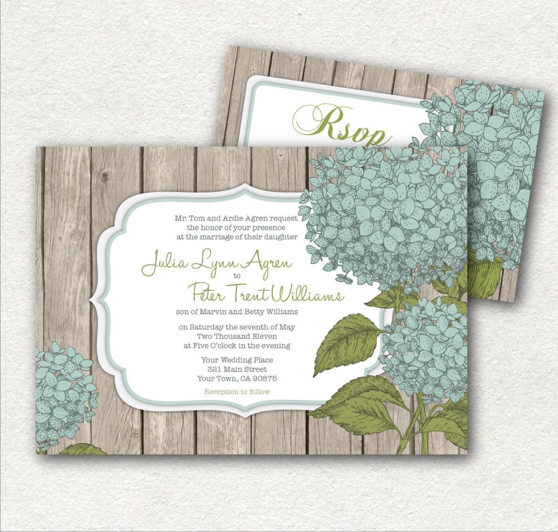 Rustic Diy Wedding Invitations: Rustic Wedding Invitations And RSVP DIY Printable. By