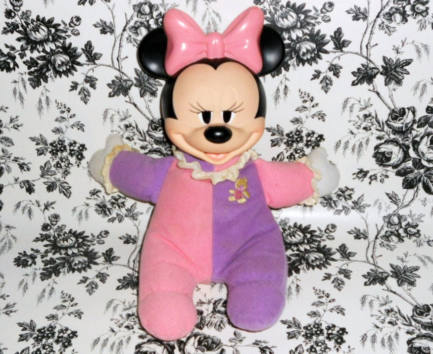 Minnie Mouse Doll Plush Light Up Mattel Vintage