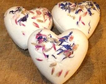 2 Bath Bombs Sweet Orange Cinnamon Natural Milk & Honey Cocoa Butter  Women Men Mothers Day Gift