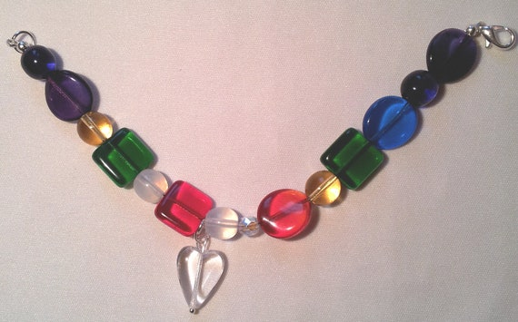 Handcrafted Jewel Coloured Chakra Inspirational Jewellry Bracelet