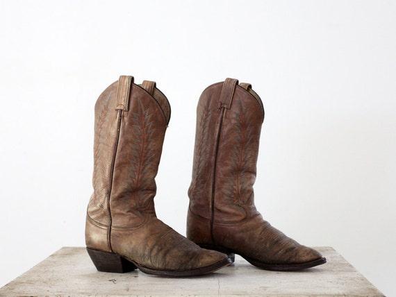 vintage 70s western boots / Tony Lama Boots / Men's 8.5 or Women's 10