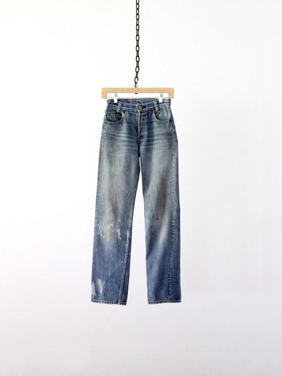 Vintage Levis Jeans / Levis 701 Denim / Waist 25