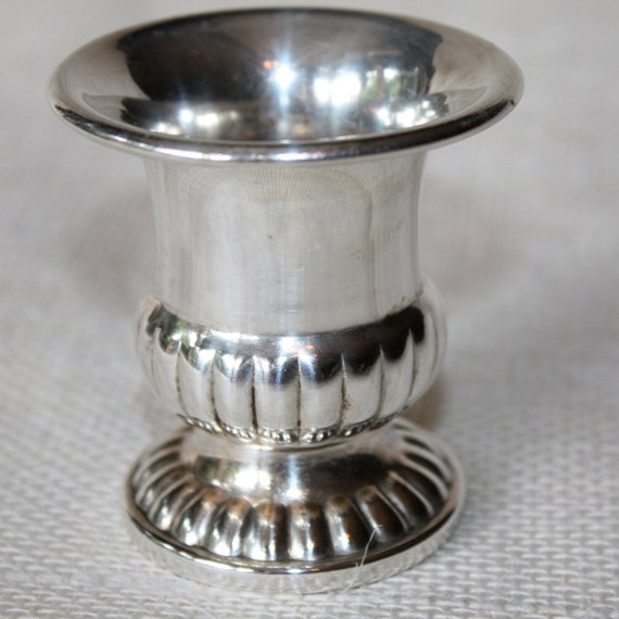 Vintage Silver Footed Urn Toothpick Holder English Canterbury Silversmiths
