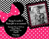 Chevron Minnie - A Customizable Birthday Invitation