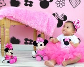 Minnie Mouse Tutu Outfit- Personalized-Pink