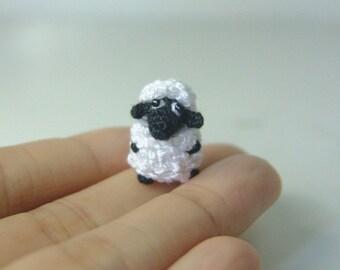 Tiny fat sheep- Crochet stuffed animal - Amigurumi miniature