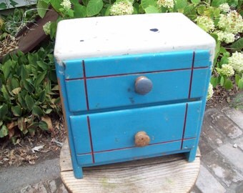 Vintage Childs Miniature Wood Dresser.