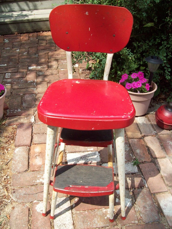 Vintage Ames Maid Step Stool Chair.