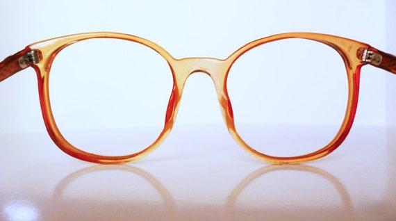 1980's Pink -Orange Frames for prescription glasses