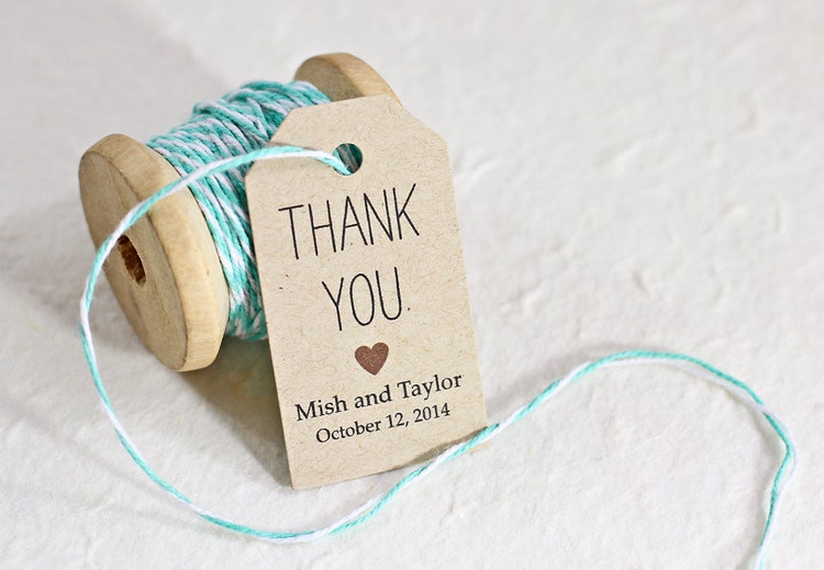 Favor Tags Wedding Favor Tag Bridal Shower Favor Tag by iDoTags
