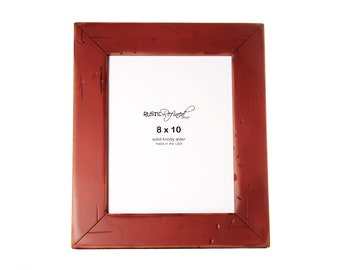 8x10 Cabin picture frame - Barn Red