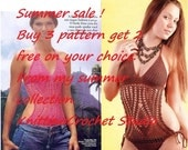 Summer Sale, Buy any 3 Crochet patterns, get 2 for free all 5 on your choice. Swimsuit, cover up, sweater, dresses.