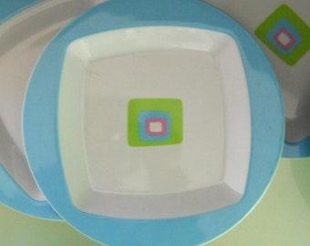 Melamine Plates - Set of 4
