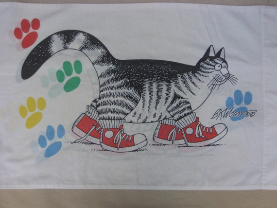 Sneaker Cat Pillowcase Kliban