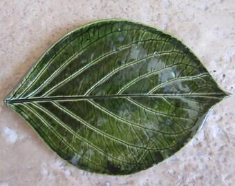 Ceramic leaf dish, appetizer plate, sushi dish, dessert dish
