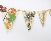 Autumn bunting, Fall Garland, Rustic decor, Thanksgiving Garland, Banner, Fall Wedding, Autumn Wedding Decor