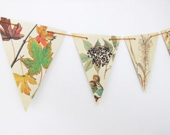 Autumn bunting, Fall Garland, Rustic decor, Thanksgiving Garland, Banner, Fall Wedding, Autumn Wedding Decor