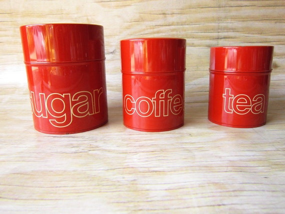 Vintage Set of Retro Canisters