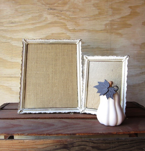 Two Vintage Picture Frames Shabby Chic